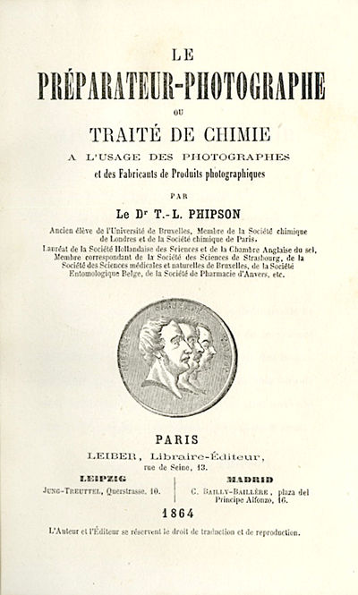 Paris: Leiber, 1864. First edition. 12mo., vii, 287 pp., illustrated from engravings. Contemporary h...