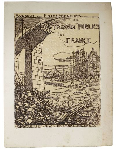 (n.p.), 1920. 1st Printing. Off white, hand made paper, printed in brown and tan, now housed in a my...