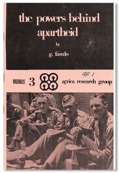 Cambridge: Africa Research Group, . Reprint. Octavo. Staple-bound pamphlet. Pictorial paper wrappers...