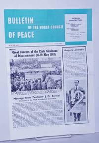 image of Bulletin of the World council of Peace 1963 May 31