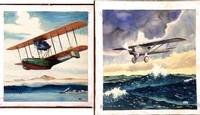 12 Original Watercolors of Mostly Aviation Subjects