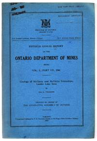 image of Fiftieth Annual Report of the Ontario Department of Mines: Geology of McGarry and McVittie Townships, Larder Lake Area