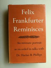 Felix Frankfurter Reminisces (*Signed by Graham Greene* with a gift inscription to his former dean and English constitutional law professor Sir David Keir)