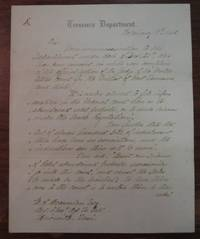 "Autographed Letter Signed on ""Treasury Department"" letterhead"