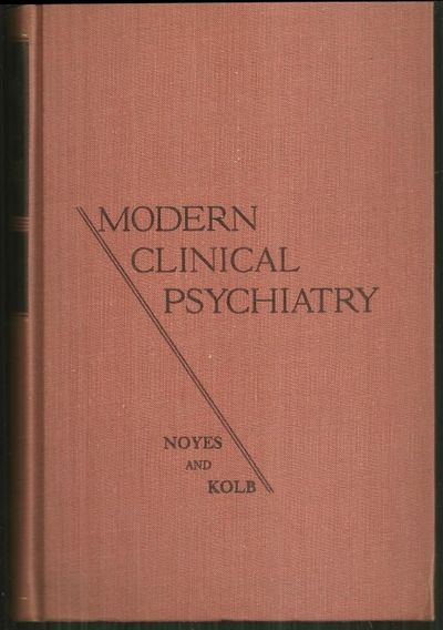 MODERN CLINICAL PSYCHIATRY, Noyes, Arthur