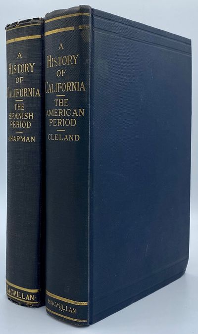 New York: The Macmillan Company, 1923. Two Volume Set. 527, 512pp. Dark blue cloth with the title an...