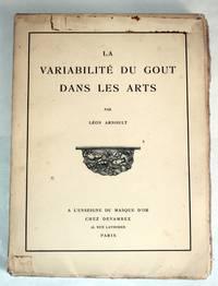 La Variabilité du Gout dans les Arts