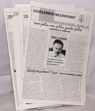 Den Bosch: Muurkrant Kollektief, 1994. Eight issues of the Dutch-language anti-authoritarian activis...