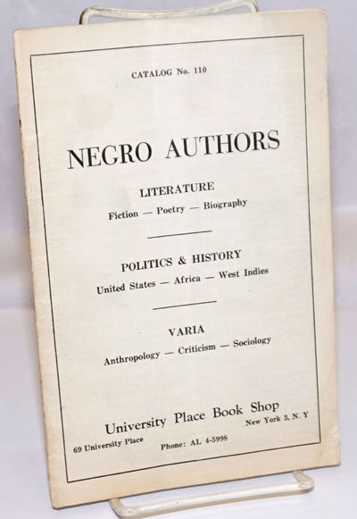 New York: University Place Book Shop, 1959. Pamphlet. 31p., wraps creased, internal readers marks (l...