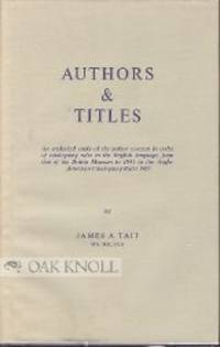 AUTHORS AND TITLES