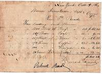 """HANDWRITTEN BILL FOR STORES LOADED AT NEW YORK IN 1864, ABOARD THE SCHOONER """"JAMESTOWN"""",  SIGNED BY PATRICK READE"""