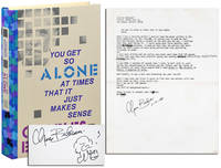 image of YOU GET SO ALONE AT TIMES THAT IT JUST MAKES SENSE - PHOTOGRAPHER'S COPY, WITH TYPESCRIPT POEM