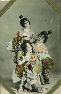 24 Unused Hand Colored Postcards, young apprentice Japanese Geisha & Japanese Views of Kobe, Yokohama, Tokyo