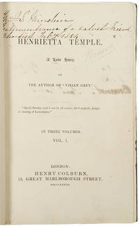 Henrietta Temple, A Love Story