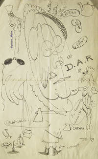 """Autograph letter, signed (""""W.K.""""), illustrated with ink, pencil and watercolor drawings, about mosquitoes on Long Island"""