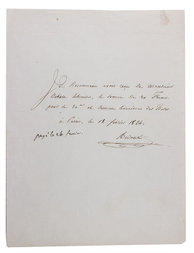 [Letter acknowledging payment from...