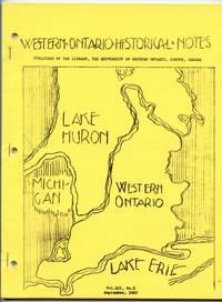 Western Ontario Historical Notes September 1965