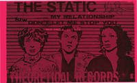 Original record release flyer for The Static, signed by Glenn Branca