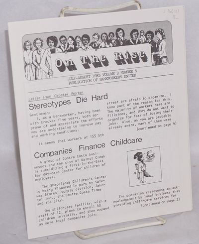 San Francisco: Bankworkers United, 1983. Single issue of the newsletter put out by clerical workers ...