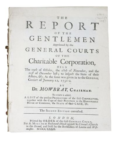 London: Printed by Order of the Said General Court, For A. Millar ... and Sold by the Booksellers of...