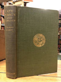 Late Lyrics and Earlier: With Many Other Verses by  Thomas Hardy - First Edition - 1922 - from Foster Books and Biblio.com