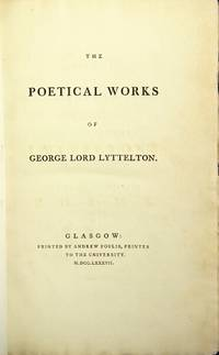 The poetical works of George Lord Lyttelton