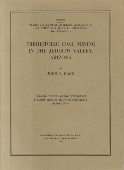 Cambridge, Massachusetts: The Peabody Museum. Very Good. 1942. Softcover. Papers of the Peabody Muse...