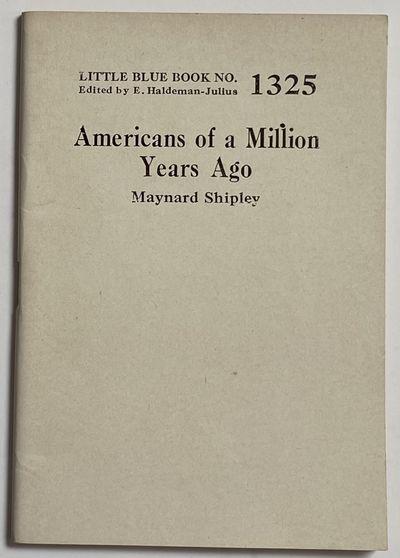 Girard KS: Haldeman-Julius Publications, undated. Pamphlet. 64p., small paperbound booklet in 5x3.5 ...