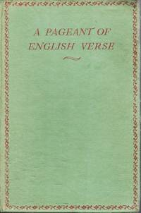 A Pageant of English Verse
