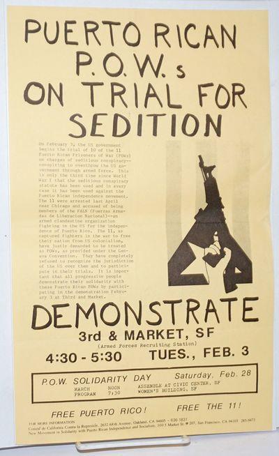 Oakland and San Francisco: Comite de California Contra la Represion and New Movement in Solidarity w...
