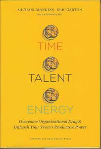 Time, Talent, Energy.  Overcome Organizational Drag & Unleash Your Team's productive Power