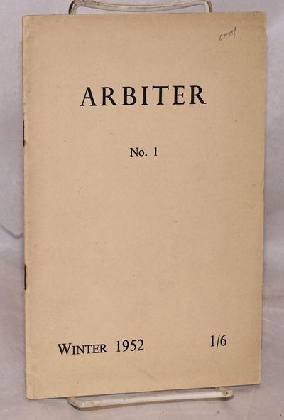 Oxford: The Editors at Brasenose College. printed at William Morris Press, 1952. 32p., 5.5x8.5 inche...