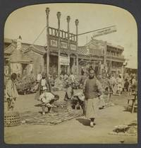 Chinese street scene with YMCA Reading room in background, photograph