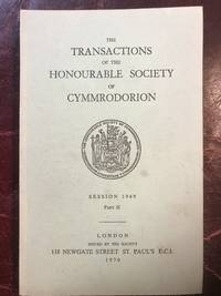 Arthurian Onomastics The Transactions Of The-Honourable Society Of Cymmrodorion Session 1969 Part II