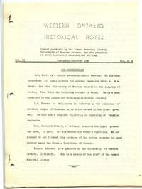Western Ontario Historical Notes September-December 1948