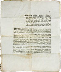 Abstract of an Act of Parliament Made in the 32d Year of the Reign..