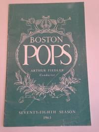 image of The Boston Pops Seventy-Eighth Season 1963 Program Arthur Fiedler Conductor
