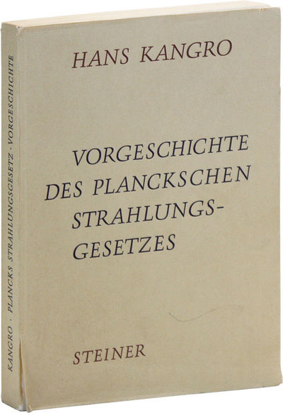 Wiesbaden: Franz Steiner Verlag Gmbh, 1970. First Edition. Paperback. History of the blackbody radia...