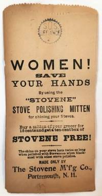 Portsmouth, N.H.: The Stovene Manufacturing Company, c. 1895. Loose_leaf. Printed Bag. Very good. 21...