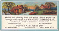 image of A Beautifully Illustrated Vintage 1930 Advertising Ink Blotter from Fall  River , Mass