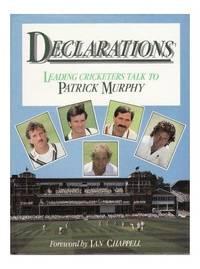 Declarations by  Patrick Murphy - Hardcover - 1989 - from Bookbarn International (SKU: 1035186)
