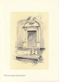 Original 1922 Print of the Doorway of Trinity Church , Newport Rhode Island