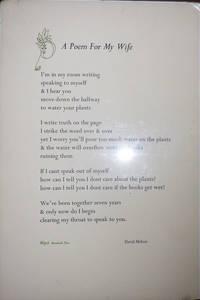 A Poem For My Wife (Broadside Poem)