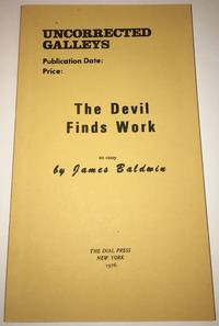 THE DEVIL FINDS WORK. An Essay. Uncorrected Galleys