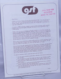 image of GSF Informational Letters on letterhead [three letters]