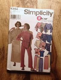 image of SIMPLICITY SEWING PATTERN: Pattern 5494: 2-HOUR ENSEMBLES: Misses' Evening Top: Size: P5: 12-20
