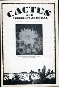 CACTUS AND SUCCULENT JOURNAL-JANUARY-FEBRUARY, 1962, NO. 1
