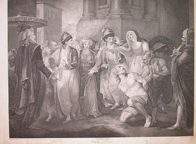 Shakespeare/Boydell. Comedy of Errors. V.1. After a painting by Rigaud, engraved by Playter. Engravi...