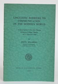 image of Linguistic Barriers to Communication in the Modern World: a Lecture given in the Arts Theatre, University College, Ibadan on 11 February 1960