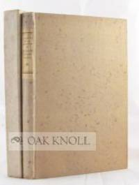New York: The Grolier Club, 1924. paper-covered boards, paper spine label, fore and bottom edges unc...